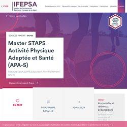 Master STAPS Activité Physique Adaptée et Santé (APA-S)