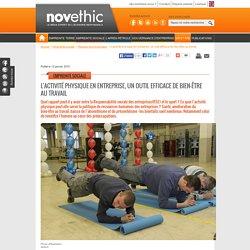 L'activité physique en entreprise, un outil efficace de bien-être au travail