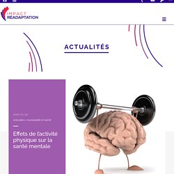 Effets de l'activité physique sur la santé mentale
