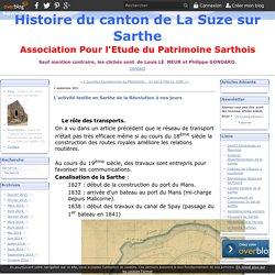 L'activité textile en Sarthe de la Révolution à nos jours - Histoire du canton de La Suze sur Sarthe