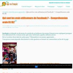 Activité sur Facebook en FLE