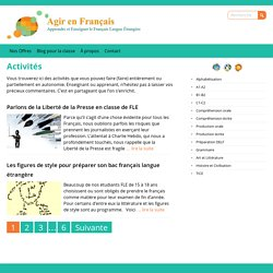 Activités Archives - Agir en Français