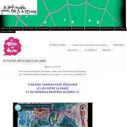 ACTIVITÉS ARTISTIQUES EN LIGNE