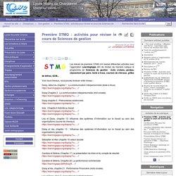 Première STMG : activités pour réviser le cours de Sciences de gestion - Lycée Hilaire de ChardonnetChalon sur Saône