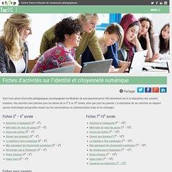 Fiches d'activités sur l'identité et citoyenneté numérique – TacTIC