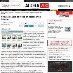 Activités audio et vidéo en classe avec internet