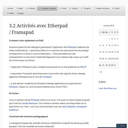 3.2 Activités avec Etherpad / Framapad