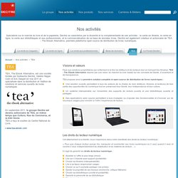 TEA / Nos activités / Site Corporate - Decitre