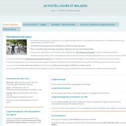 ACTIVITÉS, COURS ET BALADES – AICV, pôle d'activités vélo