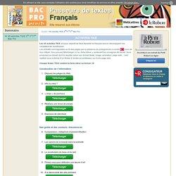 Activités TICE - Site élèves manuel Français Bac Pro - Dictionnaire Le Robert-Dictionnaire Le Robert
