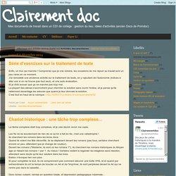 Clairement doc: Activités documentaires