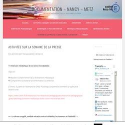 Activités sur la semaine de la presse – Documentation – Nancy – Metz