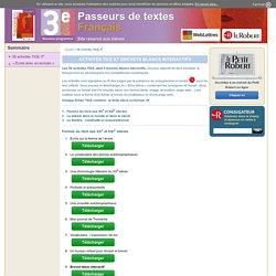 PDT 3e > Activités TICE 3e - Elèves-Dictionnaire Le Robert