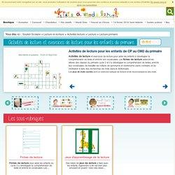 Activités de lecture et exercices de lecture pour les enfants du primaire cycle 2 et 3