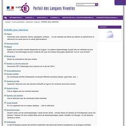 Activités, jeux, exercices — Portail des langues vivantes de l'académie de Lille