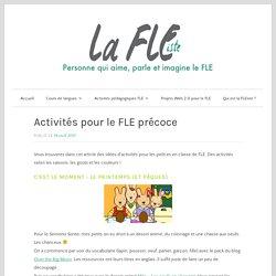 Activités pour le FLE précoce