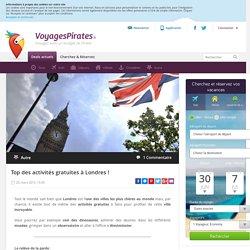 Top des activités gratuites à Londres !