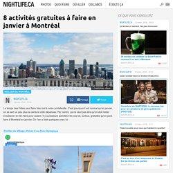 8 activités gratuites à faire en janvier à Montréal
