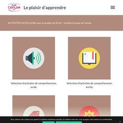 ACTIVITÉS FLE EN LIGNE avec le soutien du SCAC / Institut français de Tunisie - Le plaisir d'apprendre