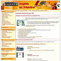 Activités interactives pour TBI ou non - CRDP de l'académie de Dijon
