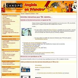 Activités interactives pour TBI, tablettes,… - CRDP de l'académie de Dijon