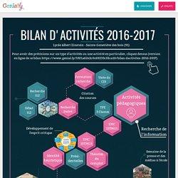 Bilan d'activités 2016-2017 by jfiliol.pro on Genially