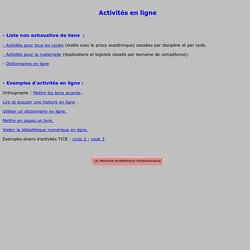 Activités en ligne