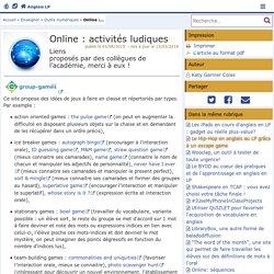 Online : activités ludiques- Anglais LP