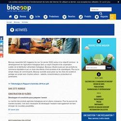 Activités de Biocoop, réseau de magasins bio et produits biologiques