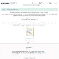 Activités à la Maison - Mango Editions