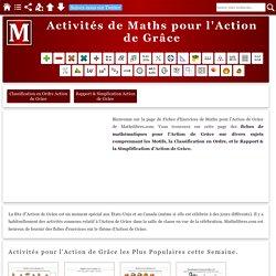 Activités de Maths pour l'Action de Grâce