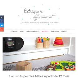 Activités Montessori : 8 activités pour les bébés à partir de 12 mois