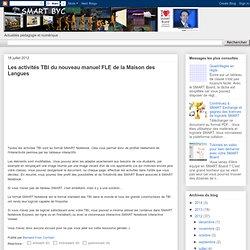 Les activités TBI du nouveau manuel FLE de la Maison des Langues