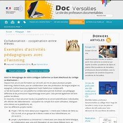 Exemples d'activités pédagogiques avec eTwinning - Documentation