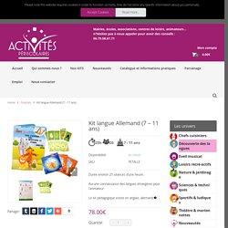 Kit langue Allemand (7 – 11 ans) – Activités Périscolaires – Les kits activités pour enfants