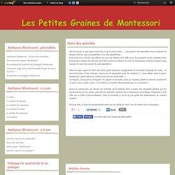 Suivi des activités - Le blog de Les petites graines de Montessori