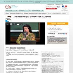 Activités physiques et promotion de la santé - Université de Bordeaux - SAM