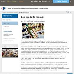 Nos Activités > Notre offre > Les produits locaux