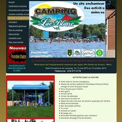 Activités et programmation - Camping du Lac Blanc