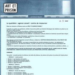 Activités et projets 2012-2013 ... - Art et Prison