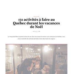131 activités à faire au Québec durant les vacances de Noël - Vifa
