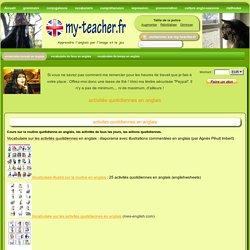 activités quotidiennes en anglais