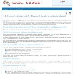 1, 2, 3, codez ! - Activités cycle 3 Scratch