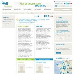 """Foyer d'Activités Sociales """"Fas Res"""" à Saint-Martin-Laguépie (81 - TARN)"""