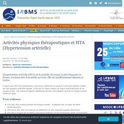 Activités physiques thérapeutiques et HTA