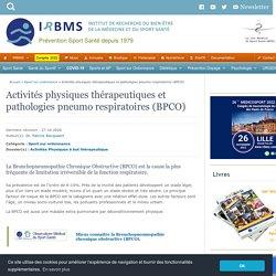 Activités physiques thérapeutiques et BPCO