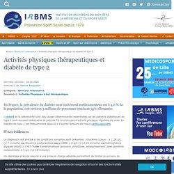 Activités physiques thérapeutiques et diabète de type 2
