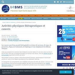 Activités physiques thérapeutiques et cancers