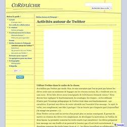Activités autour de Twitter - CoRéfléchir