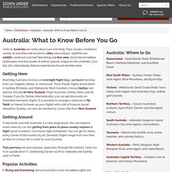 Australia: What to Know Before You Go, Activities, Accommodation, Dining